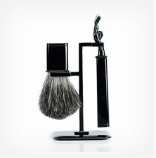 RBS-BK- Axwell USA Shaving Set RBS Series: Black Finish